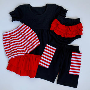 Black/Red Ruffle Bloomers