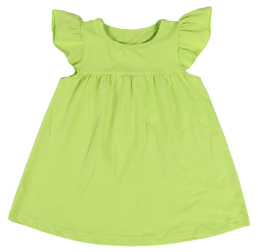 Lime Flutter Sleeve Dress