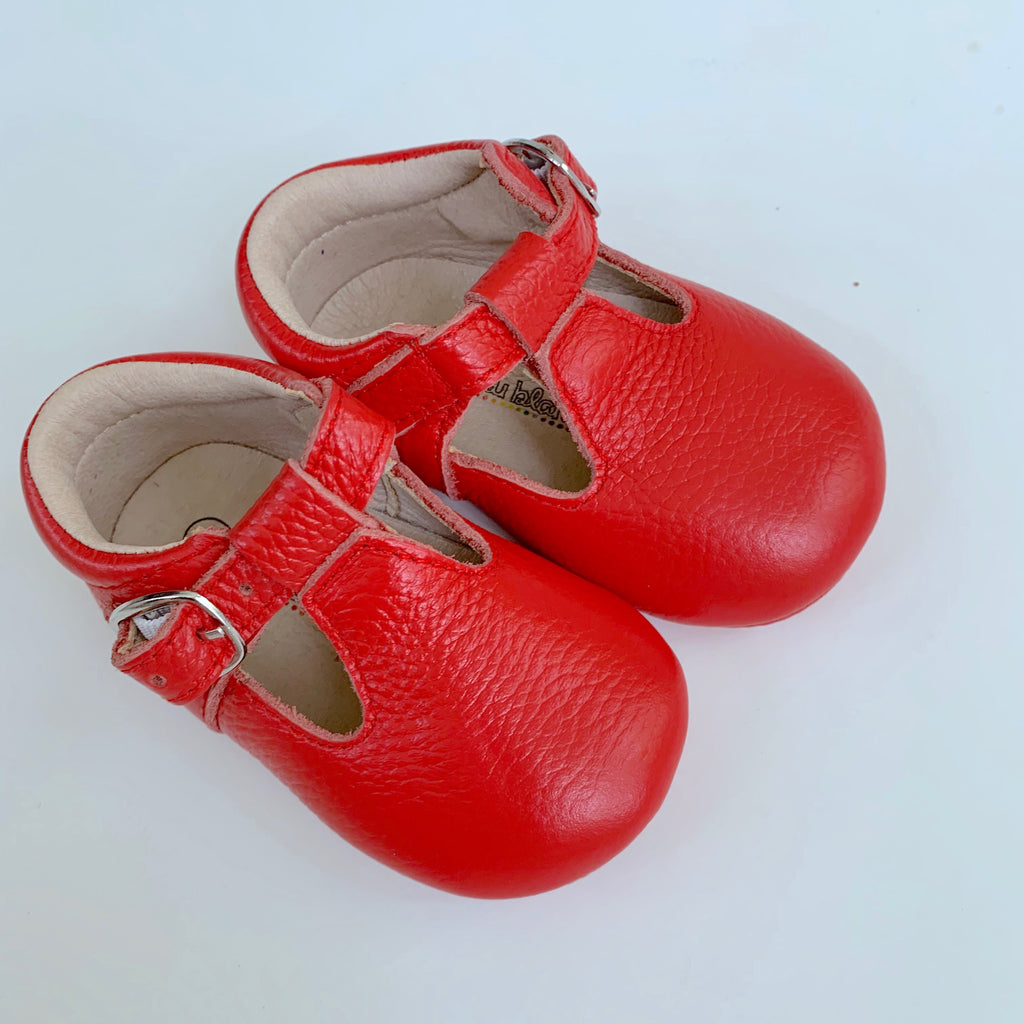 Red T-Strap Shoes