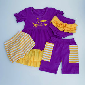 Purple/Gold Ruffle Bloomers