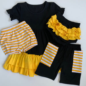 Black/Gold Ruffle Bloomers