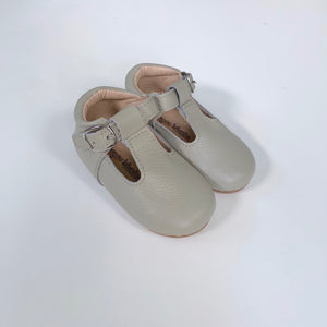 Grey T-Strap Shoes