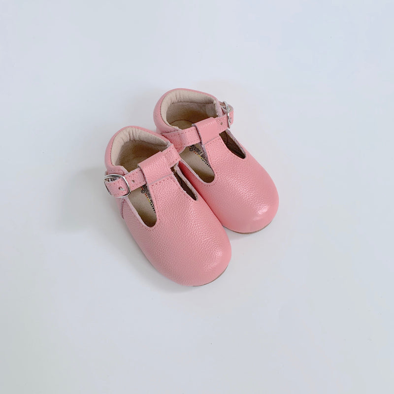 Pink T-Strap Shoes