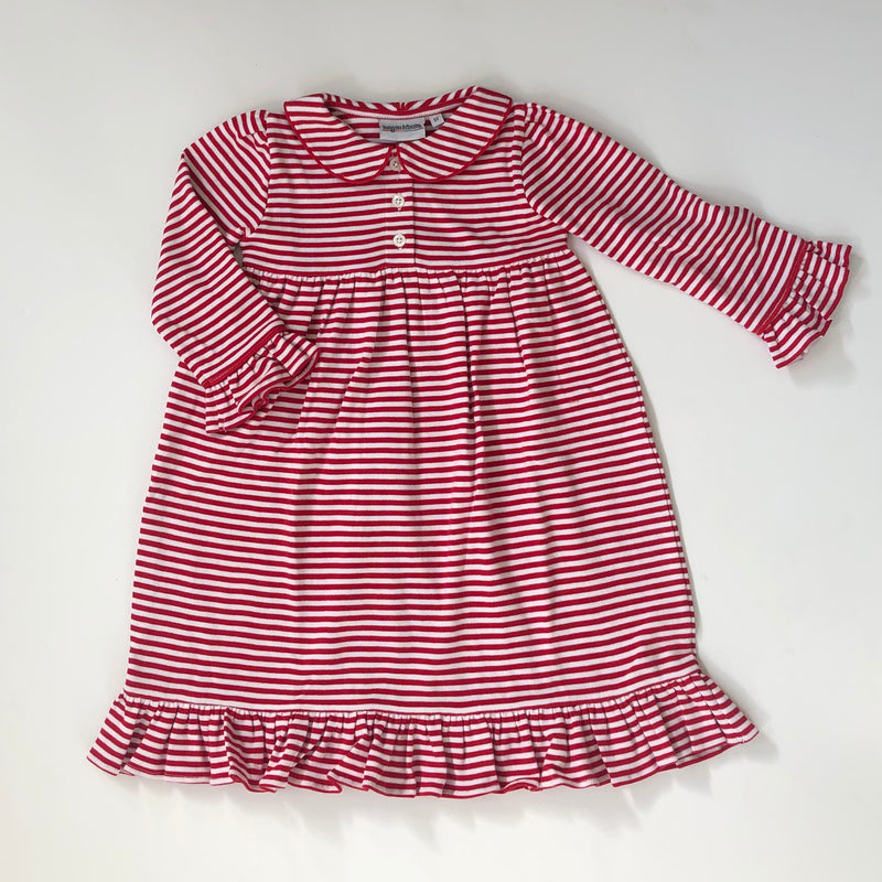Red Stripe Ruffle Dress Pre-Order