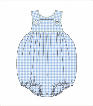 Blue Gingham Bubble - Pre-Order