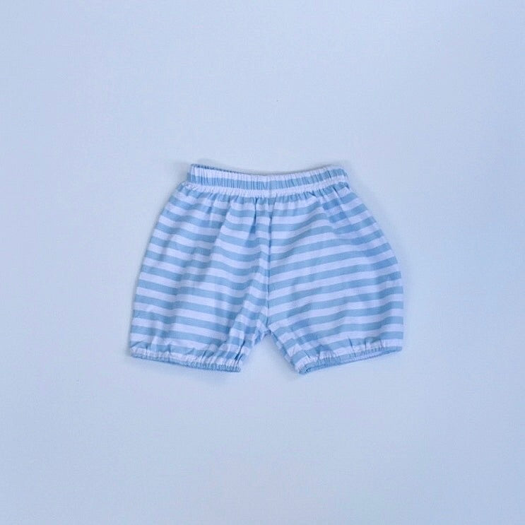 Baby Blue/White Stripe Bubble Shorts