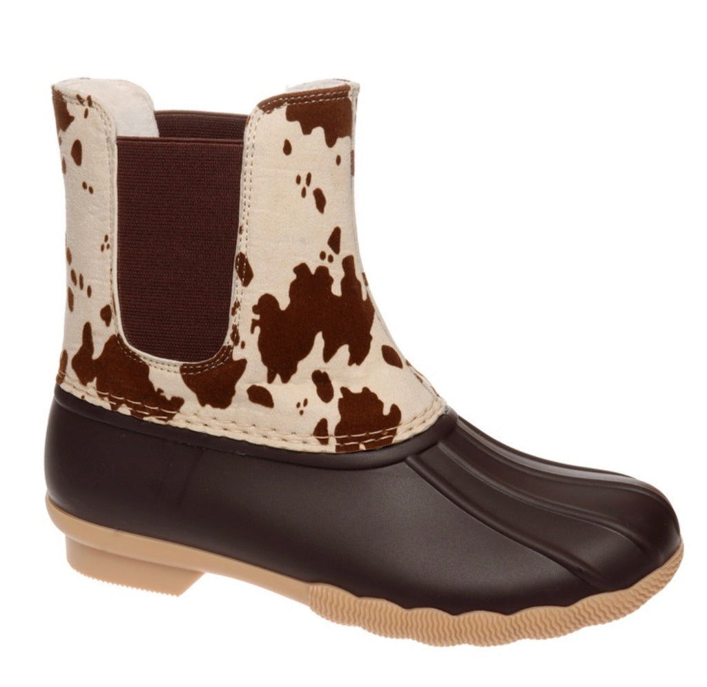 Slip on Duck Boots - Cow