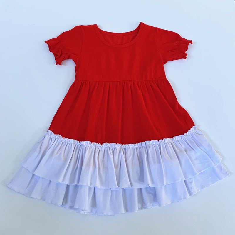 Red/White Ruffle Dress