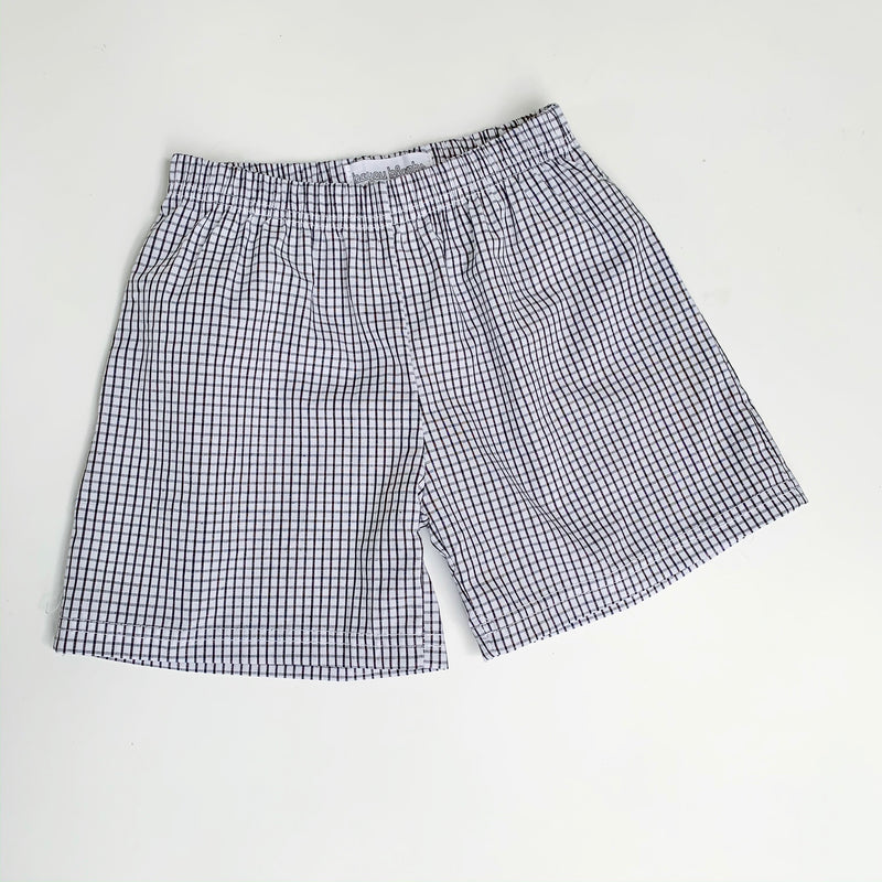 Black Windowpane Shorts
