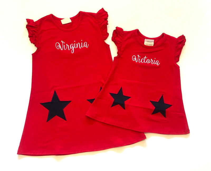 Red Star Pocket Dress