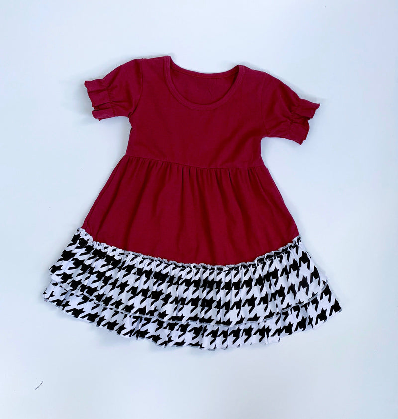 Houndstooth Ruffle Dress