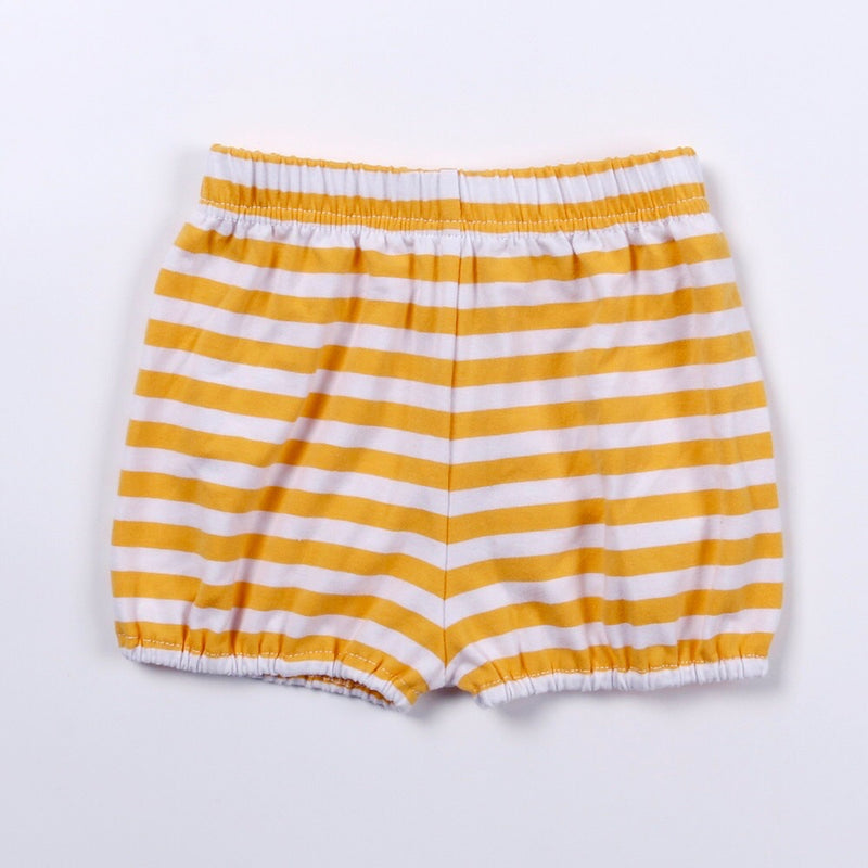 Gold/White Stripe Bubble Shorts