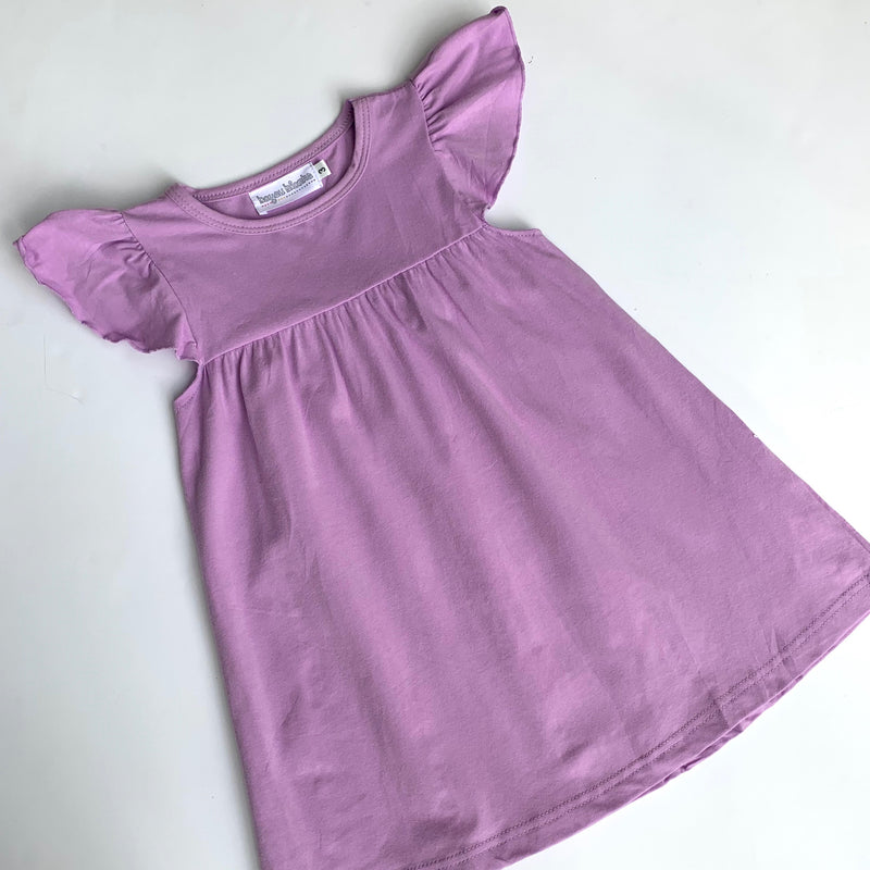 Flutter Sleeve Dress—Lavender