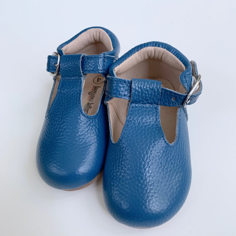 Starry Night Blue T-Strap Shoes