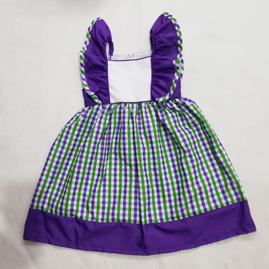Preorder 1: Saint Patricks Day & Mardi Gras : Mardi Grass Fluttersleeve dress