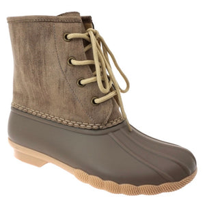 Short Duck Boots - Nude