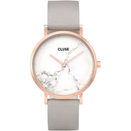 CLUSE La Roche Marble Leather Watch