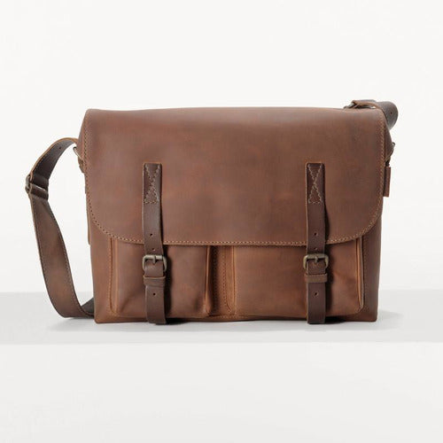 Aunts and Uncles Good Old Friends Bro Messenger Bag - Hazelnut