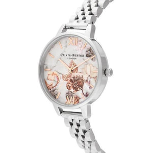 Olivia Burton Marble Floral Rose Gold Watch