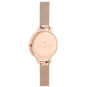 Olivia Burton Celestial Rose Gold Mesh Watch