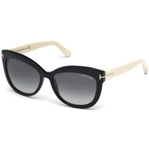 TOM FORD W ALISTAIR FT0524 5605B - BLACK/IVORY SUNGLASSES