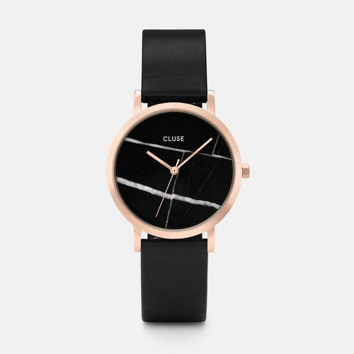 CLUSE La Roche Petite Marble Leather Watch