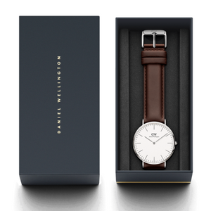 Daniel Wellington Bristol Silver/White 40mm