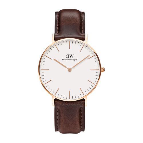 Daniel Wellington Bristol Rose Gold/White 36mm