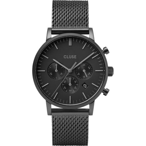 CLUSE Aravis Chrono Stainless-Mesh Watch