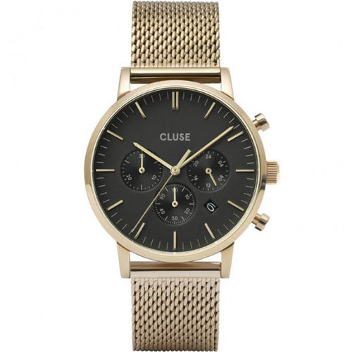 CLUSE Avaris Chrono Stainless-Mesh Watch