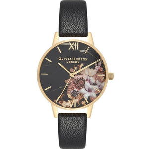 Olivia Burton Marble Florals Gold & Black Watch