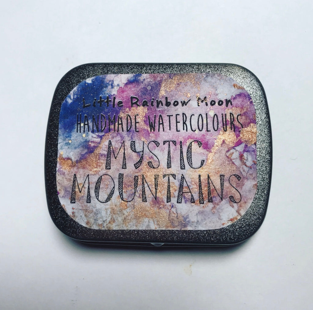 MYSTIC MOUNTAINS - Handmade Watercolour Palette (READY TO SHIP)