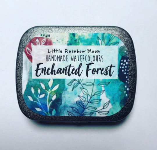 ENCHANTED FOREST - Handmade Watercolour Palette (READY TO SHIP)