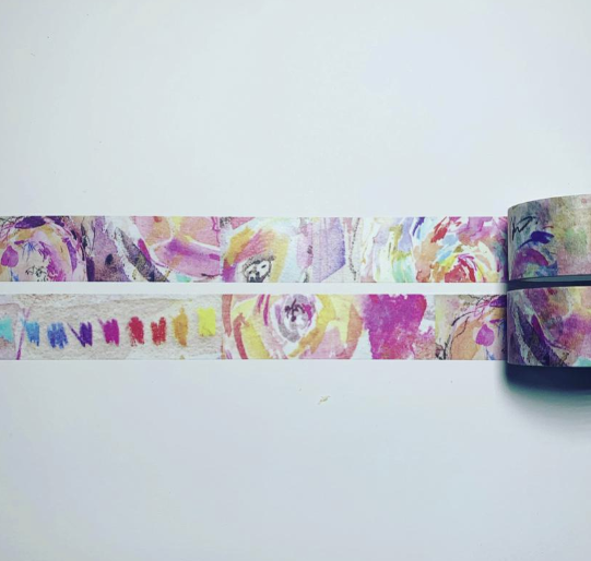 ABSTRACT FLOWERS - WASHI TAPE