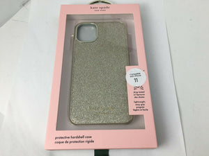 "Kate Spade Wrap Case Gold Munera Glitter for Apple iPhone 11 (6.1"") gold logo"