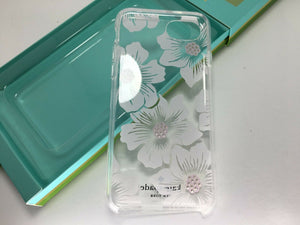 Kate Spade New York Hollyhock Floral Clear w/ Stones Case Cover iPhone 8 7 6S 6