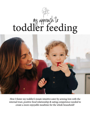 My Approach To Toddler Feeding