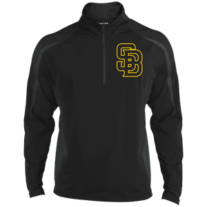 SB Logo (gold) Men's Sport Wicking Colorblock 1/2 Zip