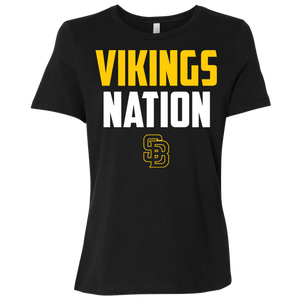 Vikings Nation Ladies' Relaxed Jersey Short-Sleeve T-Shirt