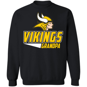 Vikings Softball Grandpa Special Crewneck Pullover Sweatshirt  8 oz.