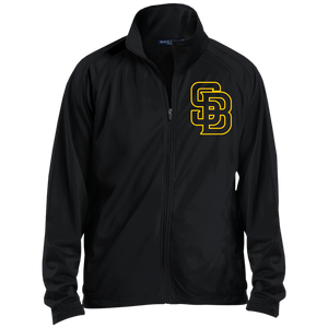 SB Logo (gold) Men's Raglan Sleeve Warmup Jacket