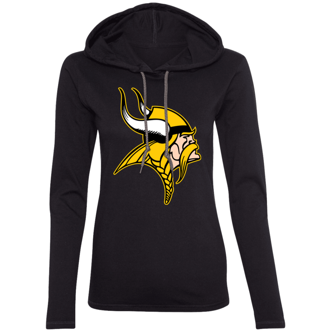 Viking Graphic (full) Ladies' LS T-Shirt Hoodie