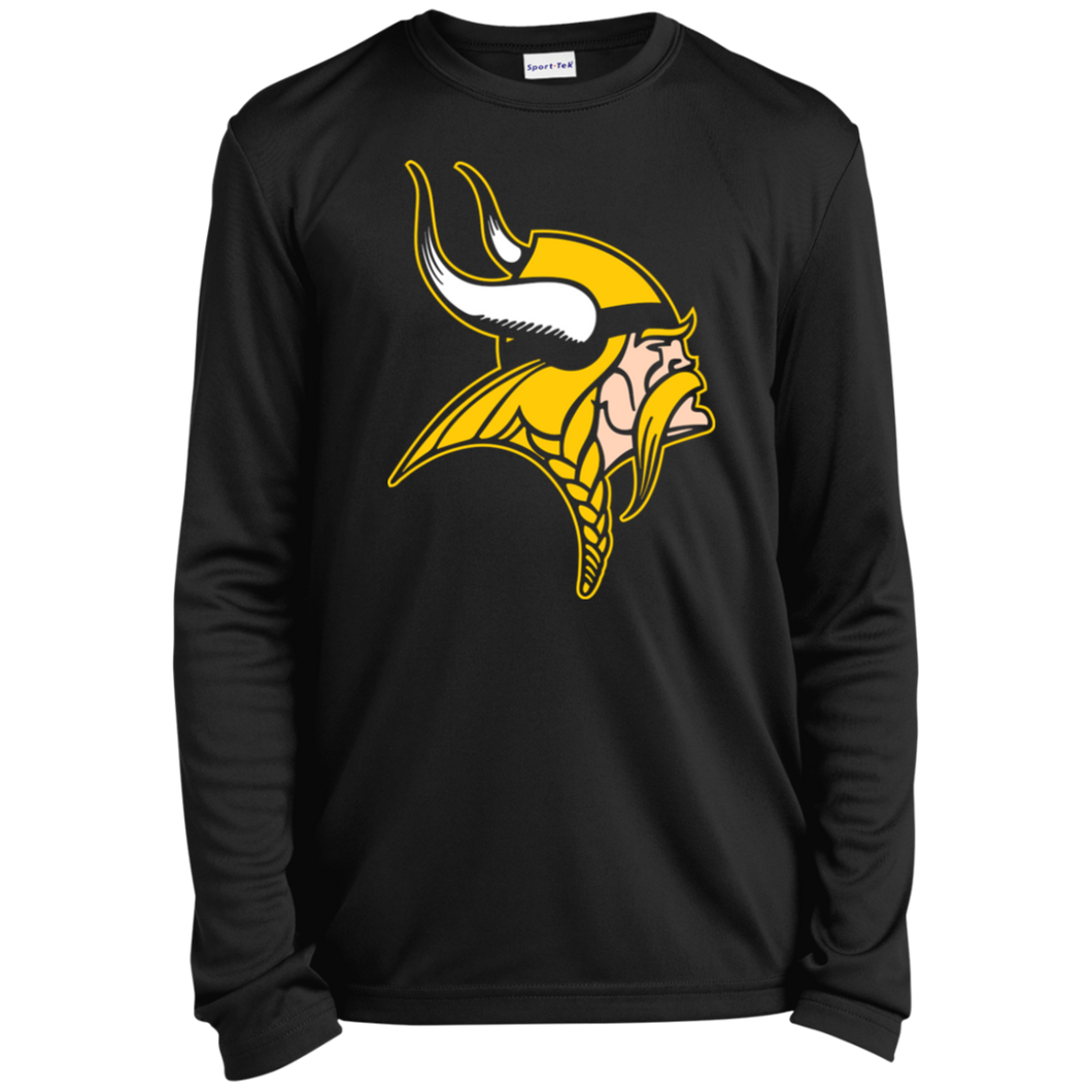 Viking Youth Long Sleeve Moisture-Wicking T-Shirt