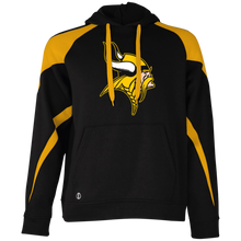 Load image into Gallery viewer, Vikings Graphic (gold) Colorblock Hoodie