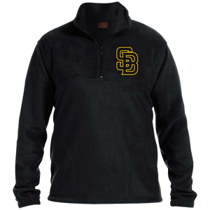 SB Logo (gold) 1/4 Zip Fleece Pullover