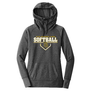 New Era Ladies Fleece Pullover Hoodie (Lady Vikings Softball Plate Logo)