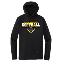 Load image into Gallery viewer, New Era Performance Hoodie Tee (Lady Viking Softball Plate Logo)