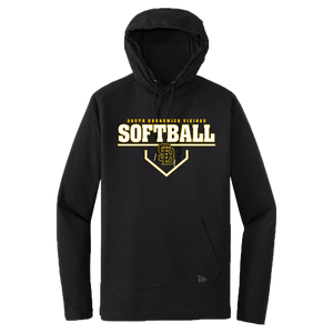 New Era Performance Hoodie Tee (Lady Viking Softball Plate Logo)