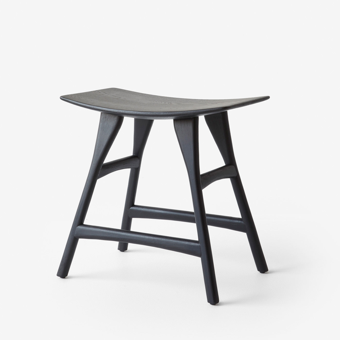 Oak Osso black dining stool