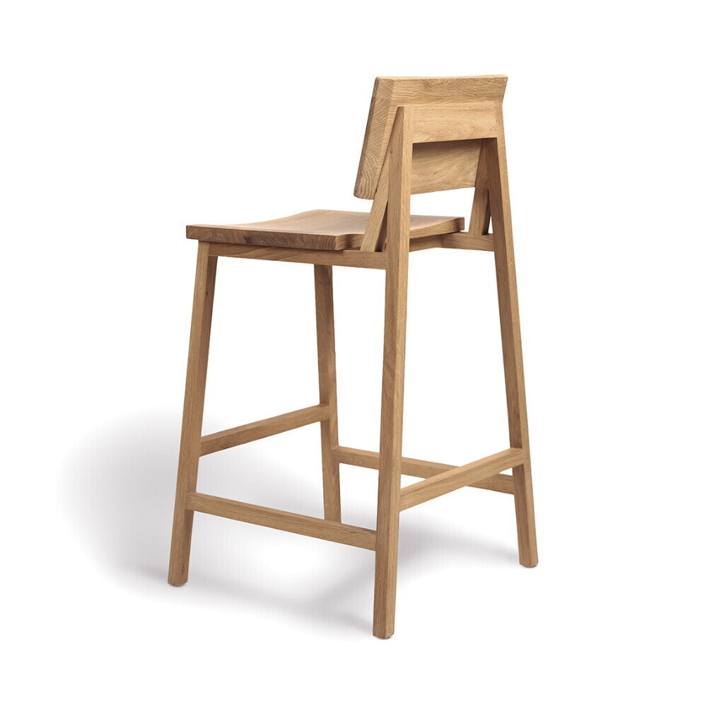 Oak N3 counter stool